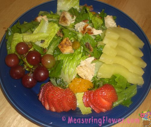 Diane Chicken Salad with Honey Poppy Seed Salad Dressing - Measuring ...