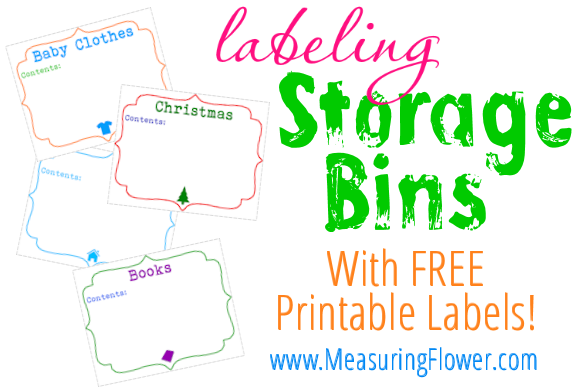 How to Label Storage Bins {With FREE Printable Bin Labels ...