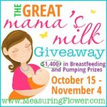 The Great Mama's Milk Giveaway–$1,400+ in Breastfeeding and Pumping Supplies! {CLOSED}