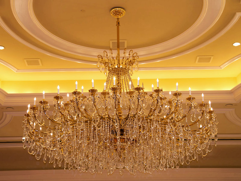 Grand America chandelier